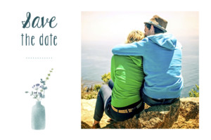 Save the Date Bouquet sauvage rose