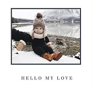 Carte de voeux cartes de noël photo chic (dorure) blanc