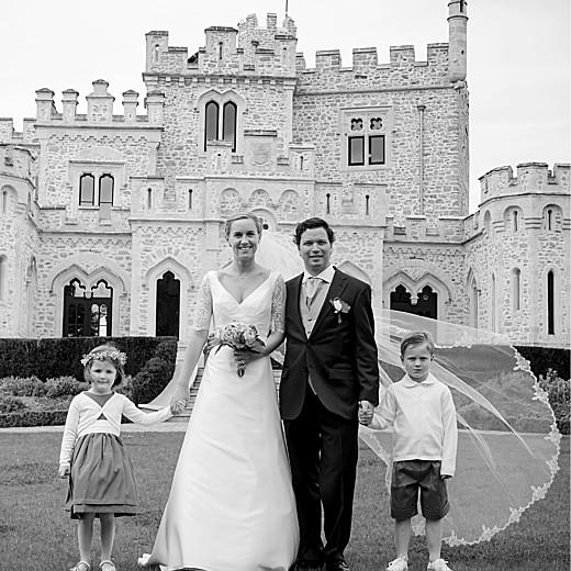 Carte de remerciement mariage Écusson 4 pages kraft - Page 2