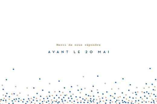 Carton d'invitation mariage Confetti bleu