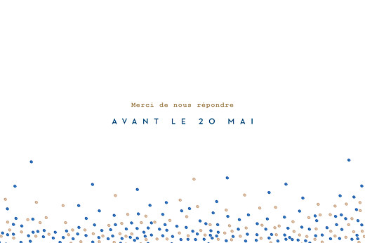 Carton d'invitation mariage Confetti bleu - Page 2