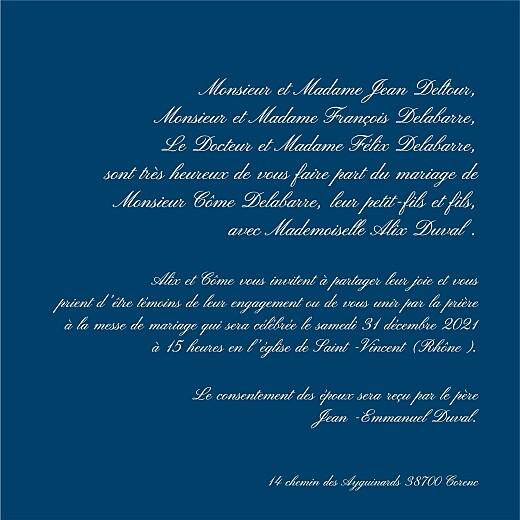 Faire-part de mariage Traditionnel bleu foncé - Page 3