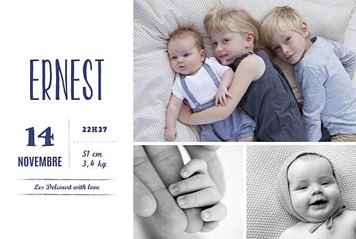 Faire-part de naissance Bonne nouvelle (dorure) bleu
