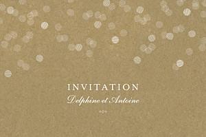 Carton d'invitation mariage classique polka kraft