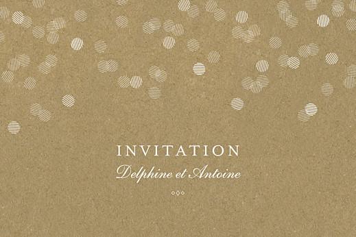 Carton d'invitation mariage Polka kraft