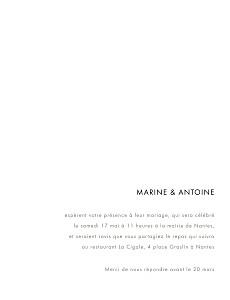 Faire-part de mariage avec dorure étincelles (dorure) bleu marine