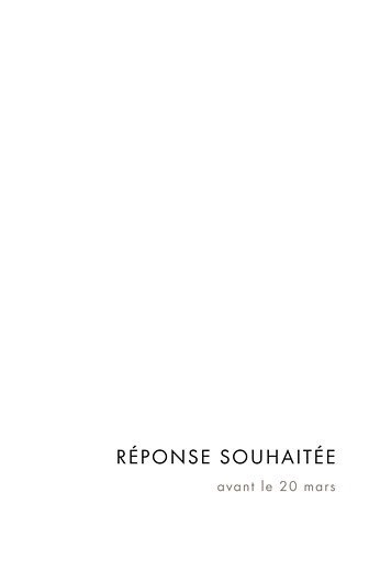 Carton réponse mariage Étincelles (dorure) blanc