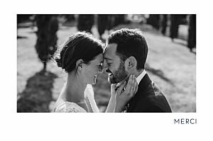 Carte de remerciement mariage bleu étincelles (dorure) bleu marine