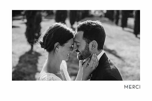 Carte de remerciement mariage Étincelles (dorure) bleu marine
