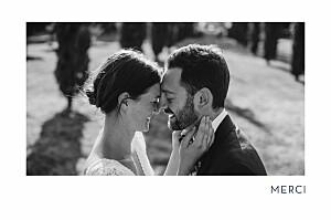 Carte de remerciement mariage Étincelles (dorure) vert