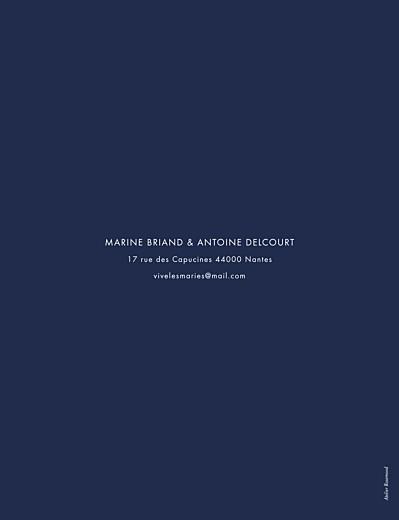 Faire-part de mariage Étincelles (dorure) bleu marine - Page 2