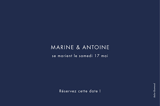 Save the Date Étincelles (dorure) bleu marine - Page 2