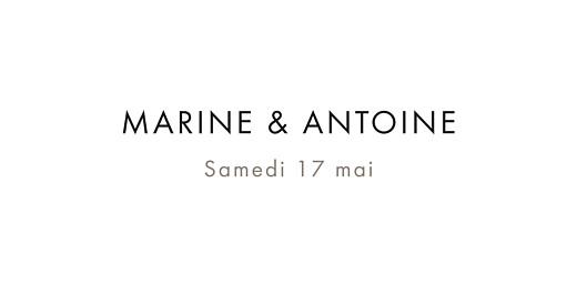 Marque-place mariage Étincelles bleu marine
