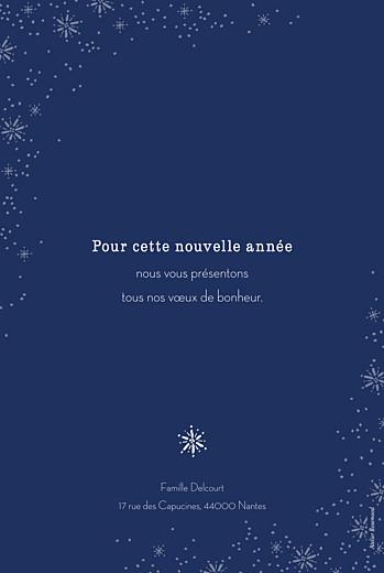 Carte de voeux Merveilles d'hiver portrait bleu - Page 2