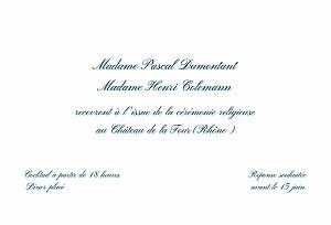 Carton d'invitation mariage traditionnel traditionnel blanc