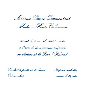Carton d'invitation mariage avec photo grand traditionnel blanc