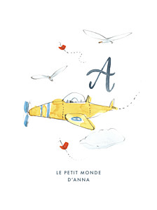 Affiche Abc… avion bleu