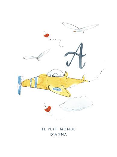 Affiche Abc… avion bleu - Page 1