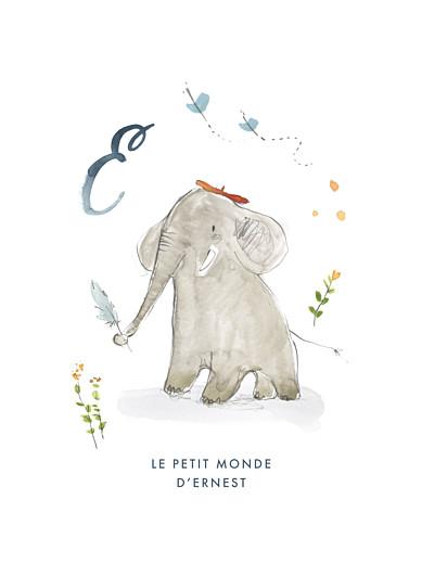 Affiche Abc… éléphant bleu