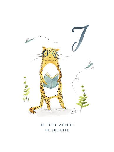 Affiche Abc… jaguar bleu
