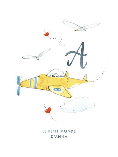 Affichette Abc… avion bleu - Page 1