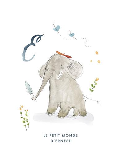 Affichette Abc… éléphant bleu - Page 1