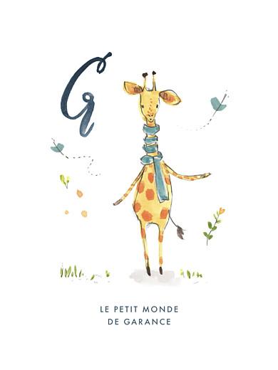 Affichette Abc… girafe bleu - Page 1
