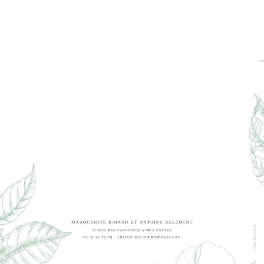 Faire-part de mariage Gravure simple (4 pages) vert