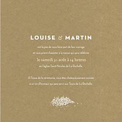 Faire-part de mariage Gypsophile (4 pages) kraft