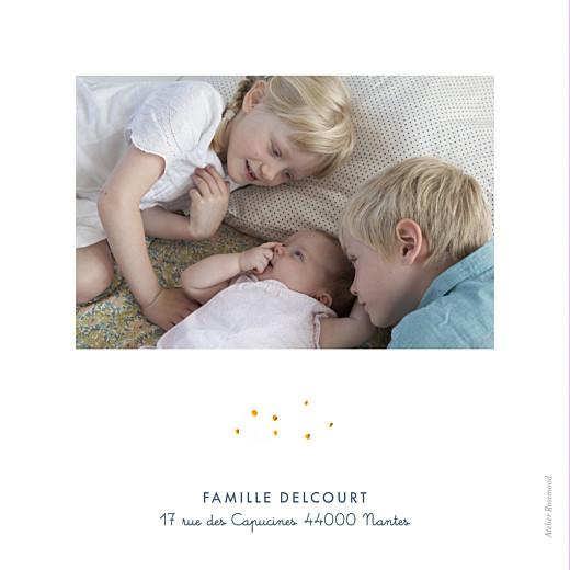 Faire-part de naissance Abc... monde blanc