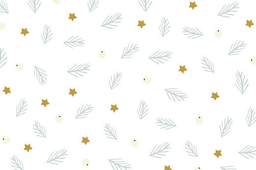 Carte de correspondance Éclat d'hiver blanc