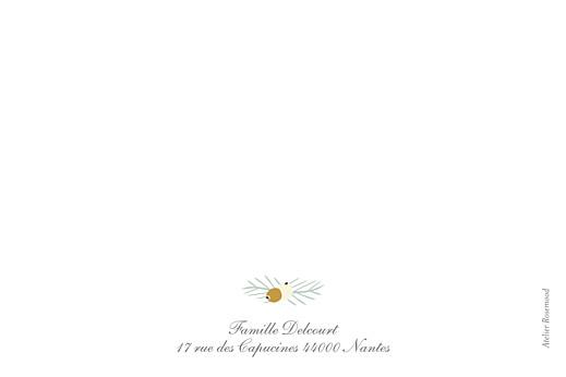 Carte de correspondance Éclat d'hiver blanc - Page 2