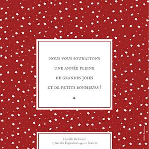Carte de voeux Souvenir 8 photos rouge
