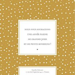 Carte de voeux Souvenir 8 photos jaune