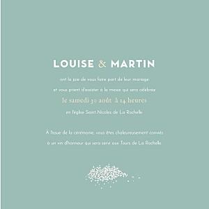 Faire-part de mariage Gypsophile (4 pages) vert