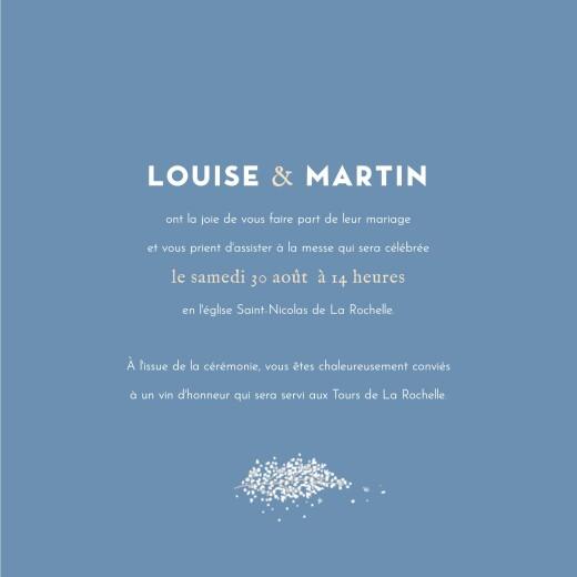 Faire-part de mariage Gypsophile (4 pages) bleu - Page 3