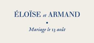 Etiquette de mariage Nature chic bleu