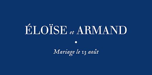 Marque-place mariage Nature chic bleu
