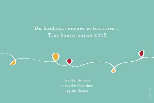 Carte de voeux Une année en couleurs turquoise