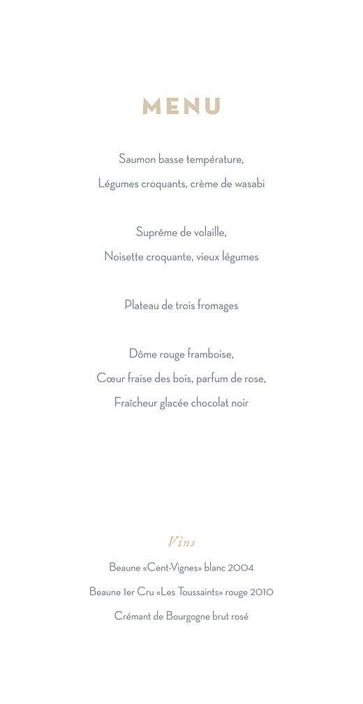 Menu de mariage Gypsophile (4 pages) gris - Page 3