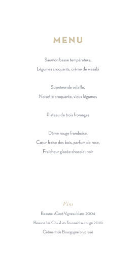 Menu de mariage Gypsophile (4 pages) kraft - Page 3