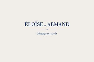 Carton d'invitation mariage classique nature chic (dorure) bleu