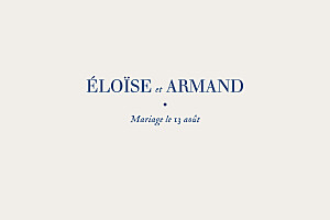 Carton d'invitation mariage beige nature chic (dorure) bleu
