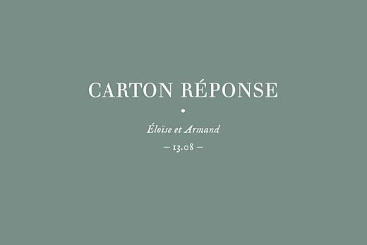 Carton réponse mariage Nature chic (dorure) vert