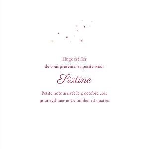 Faire-part de naissance Douceur céleste (4 pages) rose