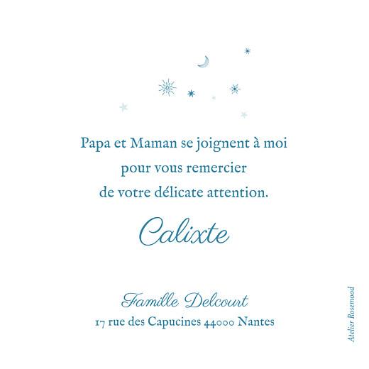 Carte de remerciement Merci douceur céleste bleu - Page 2