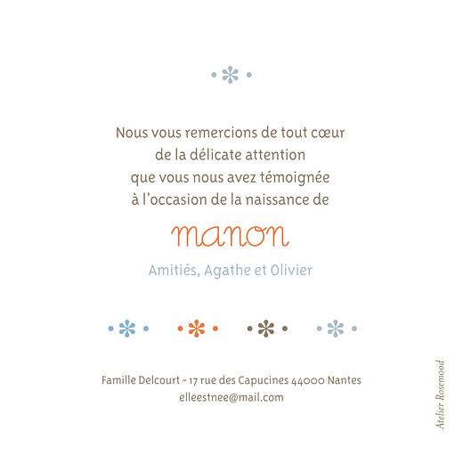 Carte de remerciement 4 photos fleurette merci - Page 2