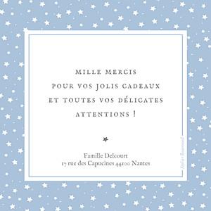 Carte de remerciement Petit souvenir étoilé bleu
