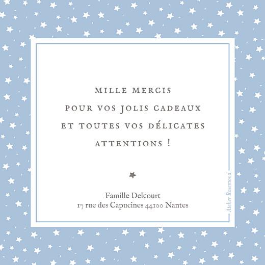 Carte de remerciement Petit souvenir étoilé bleu - Page 2