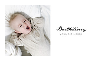 Carte de remerciement petit frère ou petite soeur un joli petit mot paysage blanc